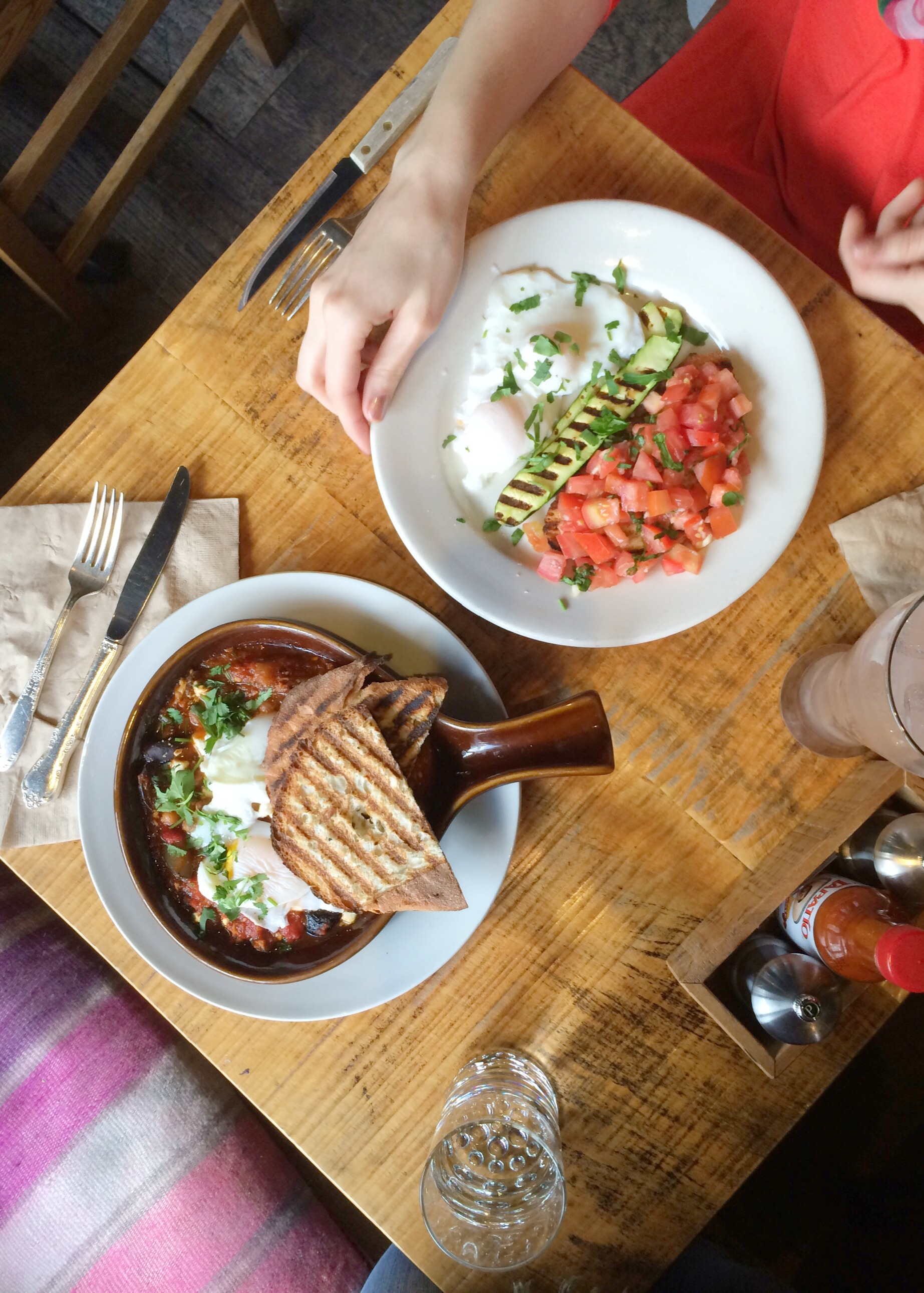 """Brunch eggs at The Grove, Hayes Valley (""""Hooky, Housekeeping...and a haiku"""") // the pig & quill"""