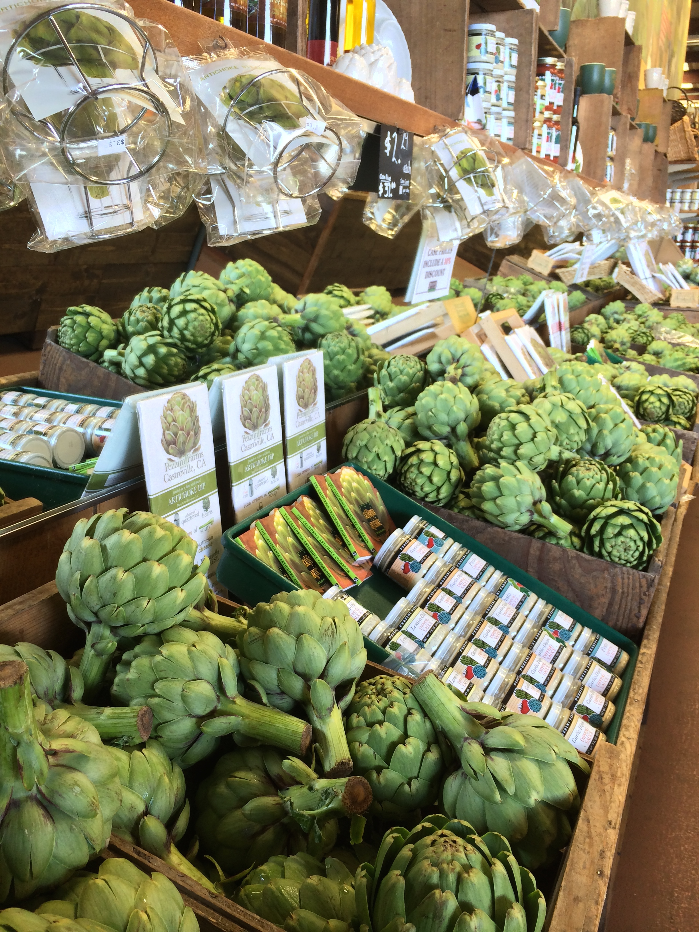 "Artichokes in Castroville (""Hooky, Housekeeping...and a haiku"") // the pig & quill"