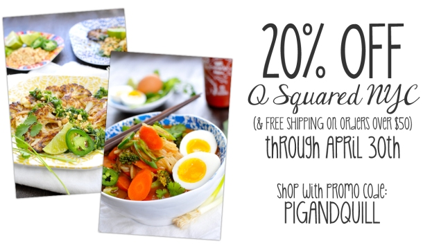 P&Q Exclusive: Save 20% and get Free Shipping on @QSquaredNYC dinnerware! // the pig & quill