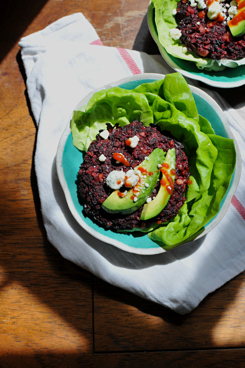Roasted Beet and Fennel Burgers (veg, gluten-free, grain-free, paleo) // the pig & quill
