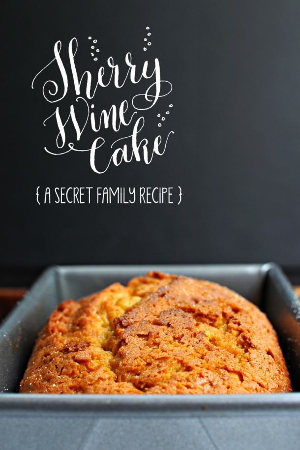 (Shhh!) Secret Sherry Wine Cake - a one-bowl wonder! // the pig & quill