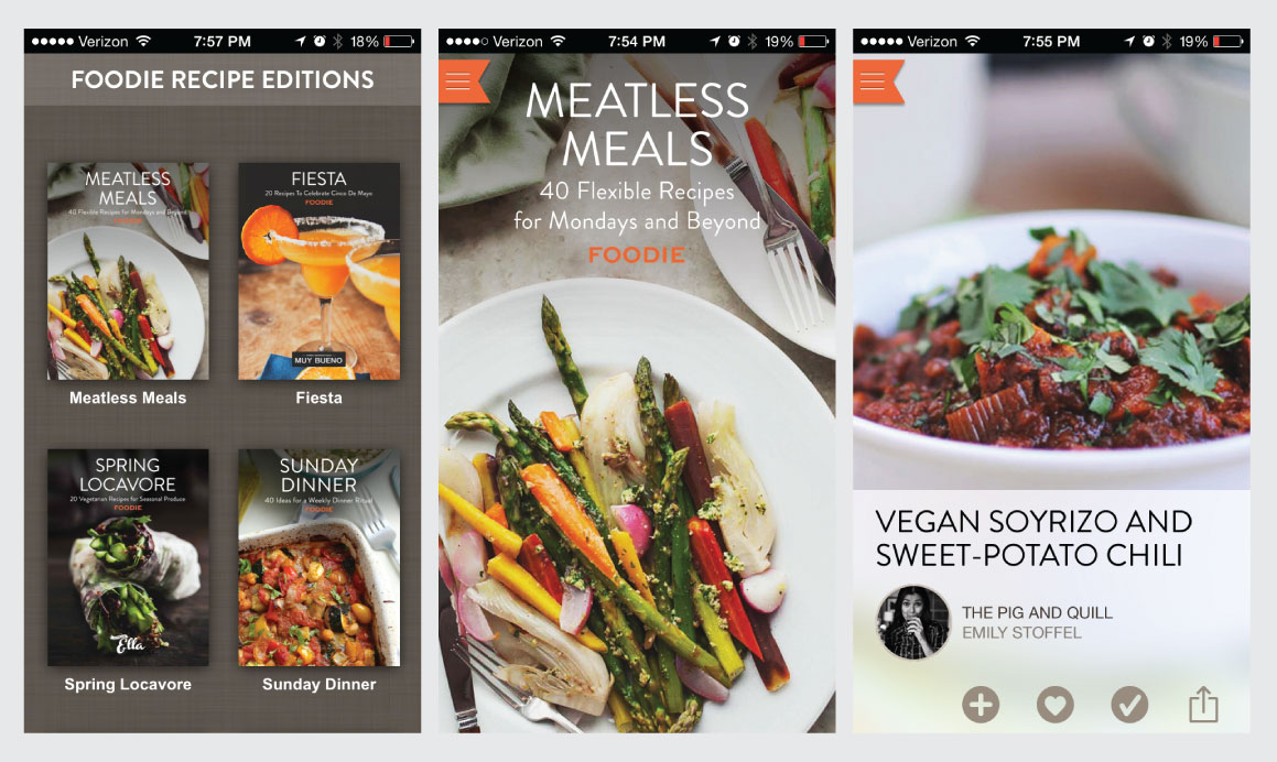the Foodie recipe app for iPhone and iPad - new recipe collections from popular bloggers published monthly -- FREE in the App Store // the pig & quill