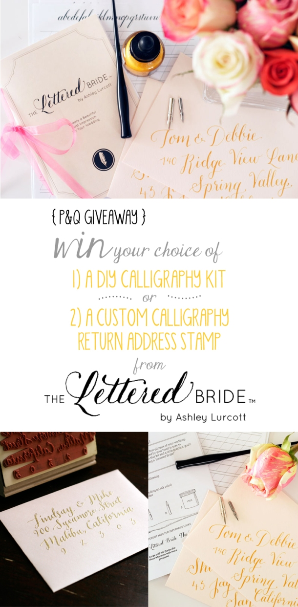 Giveaway - Win a DIY Calligraphy Set from The Lettered Bride // the pig & quill
