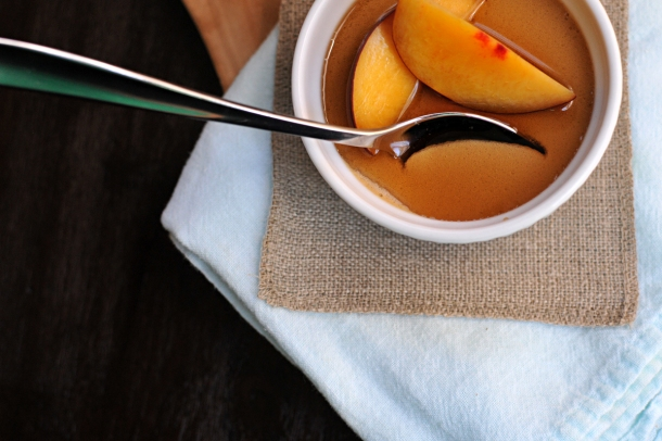 Browned Butter Panna Cotta with Maple Syrup and Stone Fruit | @efstoffel | www.thepigandquill.com