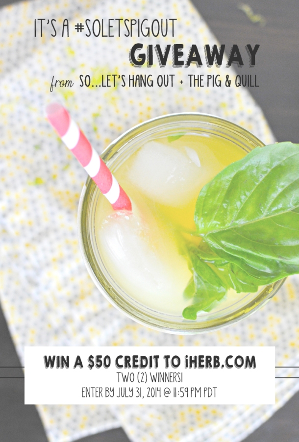 #SoLetsPigOut Giveaway - Win a $50 Shopping Spree from iHerb!