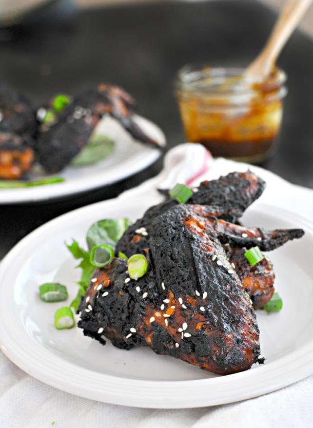 Sticky BBQ Korean Chicken Wings | www.thepigandquill.com | #glutenfree #paleoish #soletspigout
