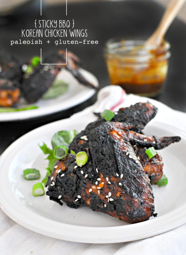 Sticky BBQ Korean Chicken Wings | www.thepigandquill.com | #glutenfree #paleoish #soletspigout