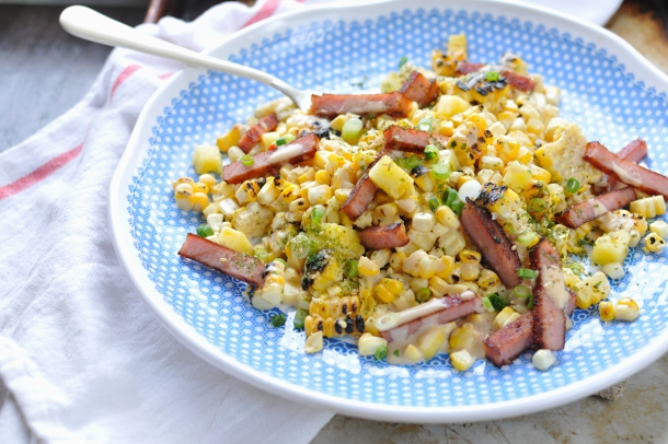 Hawaiian Street Corn with SPAM + Pineapple | www.thepigandquill.com |#glutenfree #summer #recipe