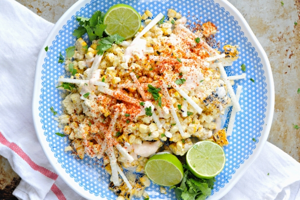 Mexican Street Corn with Jicama + Chile Salt | www.thepigandquill.com | #glutenfree #vegetarian #summer